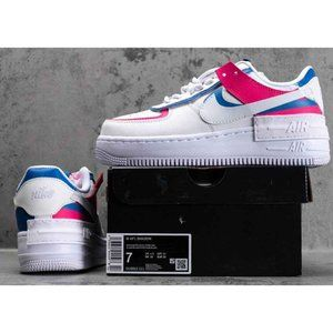 Wmns Air Force 1 Low Shadow White Pink Blue CU3012